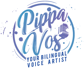 Pippa Vos Bilingual Female Voiecover Artist Logo